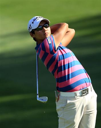 RANCHO MIRAGE, CA - APRIL 01:  Yani Tseng of Taiwan on the 7th hole during the first round of the 2010 Kraft Nabisco Championship, on the Dinah Shore Course at The Mission Hills Country Club, on April 1, 2010 in Rancho Mirage, California.  (Photo by David Cannon/Getty Images)