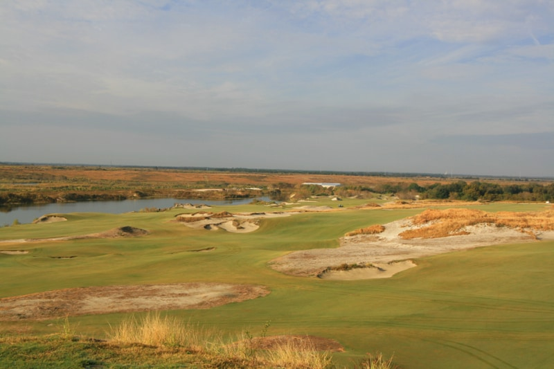 1st hole view at Streamsong
