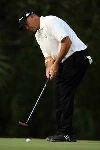 Tom Lehman putts on the 12th hole of the Palm Course during the first round of The Childrens Miracle Network Classic held at The Disney Shades of Green Resort on November 1, 2007 in Orlando, Florida, PGA TOUR - 2007 Children's Miracle Network Classic presented by Wal-Mart - First RoundPhoto by David Cannon/WireImage.com