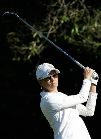 SHIMA, JAPAN - NOVEMBER 05:  Stacy Prammanasudh of the United States plays a shot on the 9th hole during round one of the Mizuno Classic at Kintetsu Kashikojima Country Club on November 5, 2010 in Shima, Japan.  (Photo by Chung Sung-Jun/Getty Images)