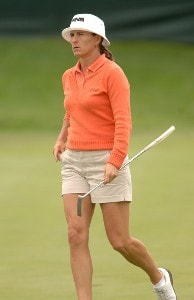 Patricia Meunier-Lebouc in action during the second round of the 2006 Franklin American Mortgage Championship benefiting the Monroe Carell Jr. Children's Hospital at Vanderbilt at Vanderbilt Legends Club in Franklin, Tennessee on May 5, 2006.Photo by Steve Grayson/WireImage.com