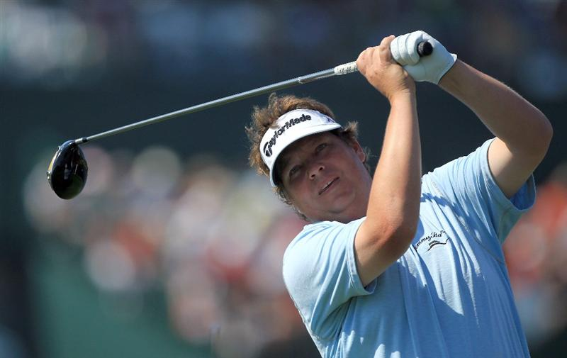 ORLANDO, FL - MARCH 25:  Tim Herron tees off at the 16th hole during the second round of the 2011 Arnold Palmer Invitational presented by Mastercard at the Bay Hill Lodge and Country Club on March 25, 2011 in Orlando, Florida.  (Photo by David Cannon/Getty Images)