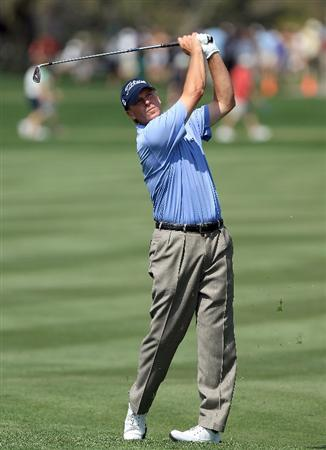 ORLANDO, FL - MARCH 27:  Steve Stricker of the USA hits his second shot on the 9th hole during the third round of Arnold Palmer Invitational presented by MasterCard at the Bayhill Lodge and Club on March 27, 2010 in Orlando, Florida.  (Photo by David Cannon/Getty Images)