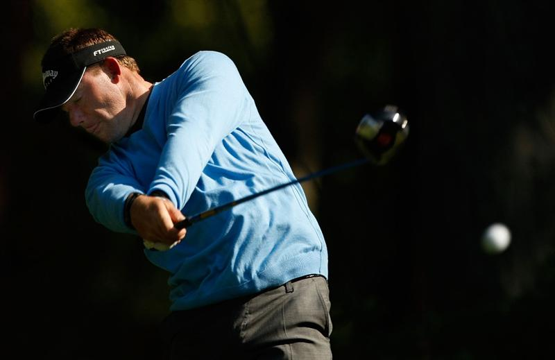 HILTON HEAD ISLAND, SC - APRIL 16:  Alex Cejka of Germany hits his tee shot on the 11th hole during the first round of the Verizon Heritage at Harbour Town Golf Links on April 16, 2009 in Hilton Head Island, South Carolina.  (Photo by Streeter Lecka/Getty Images)