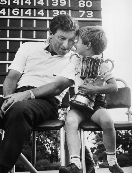 Peter Thomson and son Andrew