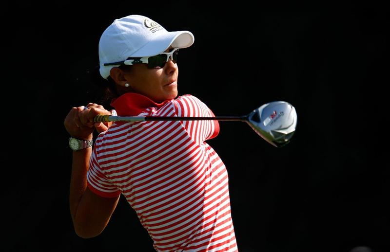 BETHLEHEM, PA - JULY 10:  Sophia Sheridan of Mexico hits her tee shot on the second hole during the second round of the 2009 U.S. Women's Open at the Saucon Valley Country Club on July 10, 2009 in Bethlehem, Pennsylvania.  (Photo by Scott Halleran/Getty Images)