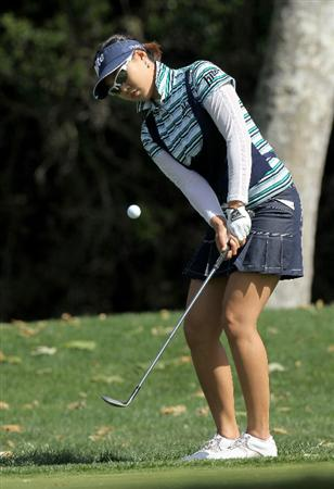 CARLSBAD, CA - MARCH 27:  Hee Kyung Seo of South Korea chips onto the green on the fourth hole during the third round of the Kia Classic Presented by J Golf at La Costa Resort and Spa on March 27, 2010 in Carlsbad, California.  (Photo by Stephen Dunn/Getty Images)