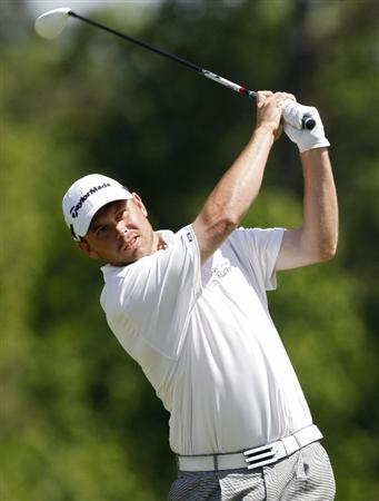 ATHENS, GA - MAY 05:  Travis Bertoni hits a drive during the first round of the Stadion Classic at UGA held at the University of Georgia Golf Course on May 5, 2011 in Athens, Georgia.  (Photo by Michael Cohen/Getty Images)