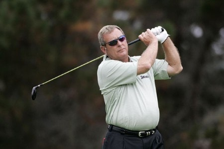 Fuzzy Zoeller in action during the first round of the 2005 Wal-Mart First Tee Open at Pebble Beach Golf Links, on September 2,2005. The event is being held at Pebble Beach Golf Links & Del Monte G.C., Pebble Beach, Ca.Photo by Stan Badz/PGA TOUR/WireImage.com