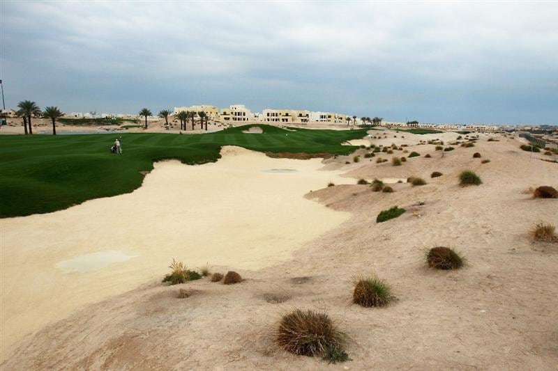 BAHRAIN, BAHRAIN - JANUARY 26:  Views of the 3rd hole showing the fairway bunkering and waste sand areas during the pro-am for the 2011 Volvo Champions held at the Royal Golf Club on January 26, 2011 in Bahrain, Bahrain.  (Photo by David Cannon/Getty Images)