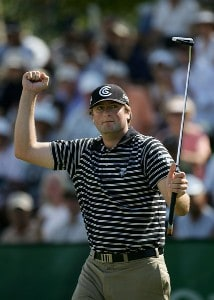 Steve Marino pumps his fist after making a birdie on the 18th hole during the second round of the Sony Open at the Waialae Country Club January 11, 2008 in Honolulu, Oahu, Hawaii. PGA TOUR - 2008 Sony Open in Hawaii - Second RoundPhoto by Jonathan Ferrey/WireImage.com