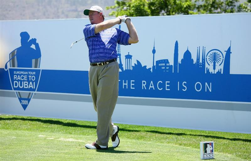 PAARL, SOUTH AFRICA - DECEMBER 17:  Ernie Els of South Africa tees off on the 12th hole during the pro-am of the South African Open Championship at Pearl Valley Golf Club on December 17, 2008 in Paarl, South Africa.  (Photo by Warren Little/Getty Images)