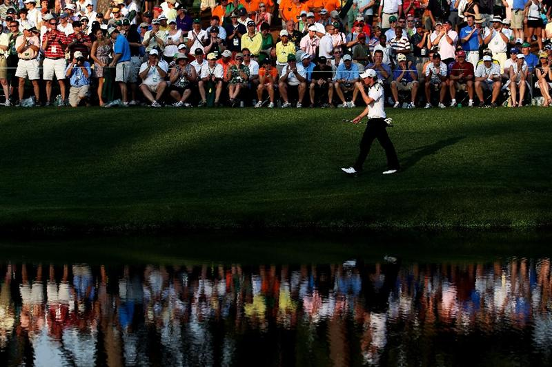 AUGUSTA, GA - APRIL 09:  Rory McIlroy of Northern Ireland walks to the 16th green during the third round of the 2011 Masters Tournament at Augusta National Golf Club on April 9, 2011 in Augusta, Georgia.  (Photo by Andrew Redington/Getty Images)