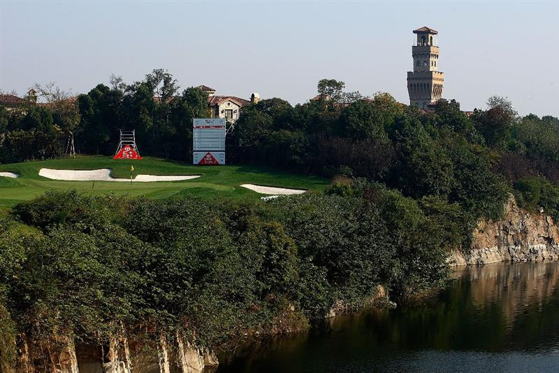 SHANGHAI, CHINA - NOVEMBER 03:  A general-view of the 17th hole during a practice round prior to the start of the WGC-HSBC Champions at Sheshan International Golf Club on November 3, 2009 in Shanghai, China.  (Photo by Scott Halleran/Getty Images)