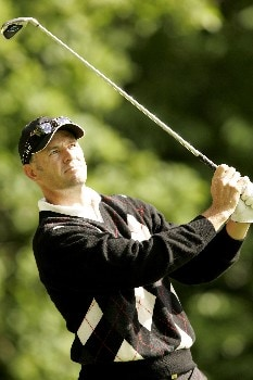 Stephen Scahill in action during the third round of the 2005 BMW Championship at Wentworth Golf Club's West Course. May 28, 2005Photo by Pete Fontaine/WireImage.com