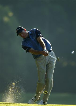 CHARLOTTE, NC - APRIL 30:  Jim Furyk plays into the 11th green during the second round of the Quail Hollow Championship at Quail Hollow Country Club on April 30, 2010 in Charlotte, North Carolina.  (Photo by Richard Heathcote/Getty Images)