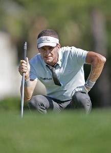 Jesper Parnevik on the 17th hole during the first round of the Verizon Heritage Classic being played at the Harbour Town Golf Links in Hilton Head, South Carolina on April 13, 2006.Photo by Mike Ehrmann/WireImage.com