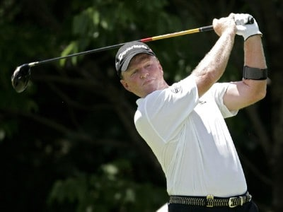 Lonnie Nielsen during the final round of the Ford Senior Players Championship held at TPC Michigan in Dearborn, Michigan, on July 16, 2006.Photo by Gregory Shamus/WireImage.com