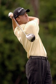 James Nitties hits from the tee during Round One of the Chattanooga Classic  at Black Creek Club in Chattanooga, Tennessee on June 2, 2005.Photo by Joe Murphy/WireImage.com