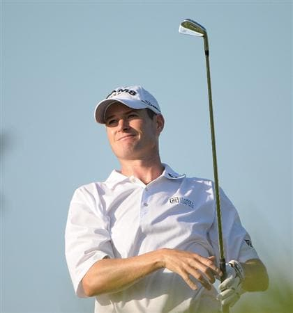 OMAHA, NE - JULY 23:  Brad Elder tees off the 12th hole during the first round of the Cox Classic held at Champions Run on July 23, 2009 in Omaha, Nebraska. (Photo by Marc Feldman/Getty Images)