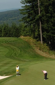 Dana Quigley in action during the championship round of the 2005 Boeing Greater Seattle Classic at TPC at Snoqualmie Ridge in Snoqualmie, Washington August 21, 2005.Photo by Steve Grayson/WireImage.com