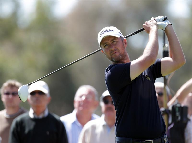 MALAGA, SPAIN - MARCH 27:  Mark Foster of England during the final round of the Open de Andalucia at the Parador de Malaga Golf Course on March 27, 2011 in Malaga, Spain.  (Photo by Ross Kinnaird/Getty Images)