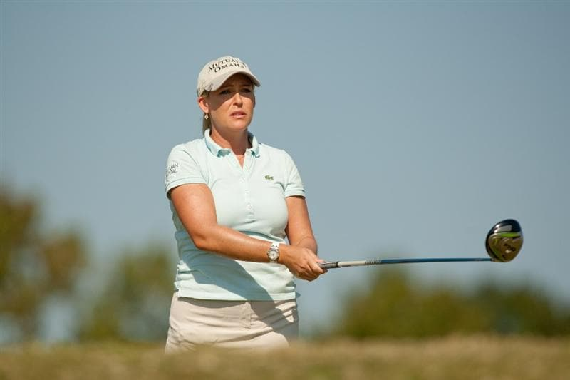 PRATTVILLE, AL - OCTOBER 9: Cristie Kerr watches a tee shot during the third round of the Navistar LPGA Classic at the Senator Course at the Robert Trent Jones Golf Trail  on October 9, 2010 in Prattville, Alabama. (Photo by Darren Carroll/Getty Images)