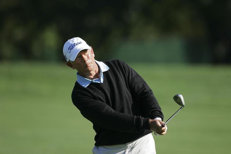 TIMONIUM, MD - OCTOBER 01:  Mike Goodes watches his shot during the first round of the Constellation Energy Senior Players Championship at Baltimore Country Club/Five Farms (East Course) held on October 1, 2009 in Timonium, Maryland. (Photo by Michael Cohen/Getty Images)