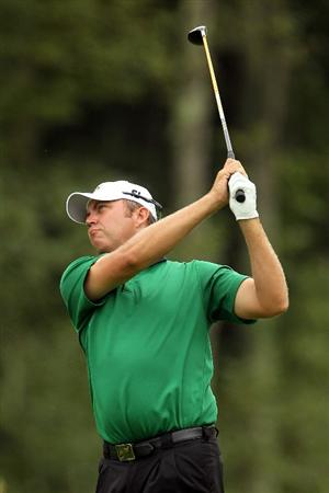 NORTON, MA - SEPTEMBER 03:  Bo Van Pelt hits a shot on the second hole during the first round of the Deutsche Bank Championship at TPC Boston on September 3, 2010 in Norton, Massachusetts.  (Photo by Mike Ehrmann/Getty Images)