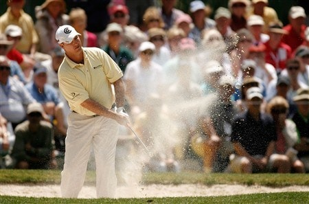 HILTON HEAD, SC - APRIL 19:  Boo Weekley hits out of the sand on the second hole during the third round of the Verizon Heritage at Harbour Town Golf Links April 19, 2008 in Hilton Head, South Carolina.  (Photo by Streeter Lecka/Getty Images)