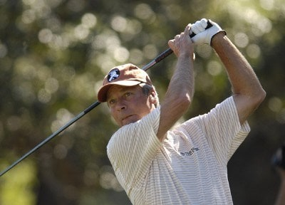 Ben Crenshaw during the first round of the AT&T Championship at Oak Hills Country Club in San Antonio, Texas, on October 20, 2006. Champions Tour - 2006 AT&T Championship - First RoundPhoto by Steve Levin/WireImage.com