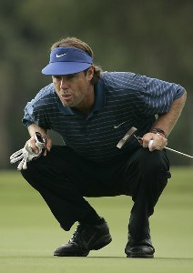 Paul Azinger on the 9th hole during the first round of the 2006 FUNAI Classic at WALT DISNEY WORLD Resort on the Palm Course and the Magnolia Course in Lake Buena Vista, Florida, on October 19, 2006. PGA TOUR - 2006 FUNAI Classic at the WALT DISNEY WORLD Resort - First RoundPhoto by Sam Greenwood/WireImage.com