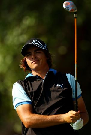 PONTE VEDRA BEACH, FL - MAY 07:  Rickie Fowler plays his tee shot on the 12th hole during the second round of THE PLAYERS Championship held at THE PLAYERS Stadium course at TPC Sawgrass on May 7, 2010 in Ponte Vedra Beach, Florida.  (Photo by Richard Heathcote/Getty Images)