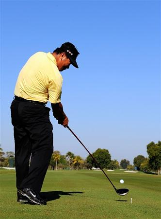DORAL, FL - MARCH 10:  K.J. Choi of Korea hits during a practice round for the World Golf Championships-CA Championship at the Doral Golf Resort & Spa on March 10, 2009 in Miami, Florida.  (Photo by Sam Greenwood/Getty Images)