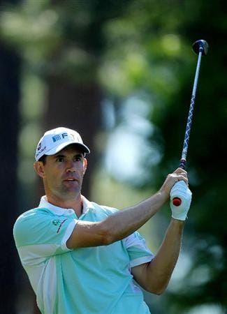AUGUSTA, GA - APRIL 07:  Padraig Harrington of Ireland hits his tee shot on the fourth hole during the first round of the 2011 Masters Tournament at Augusta National Golf Club on April 7, 2011 in Augusta, Georgia.  (Photo by David Cannon/Getty Images)