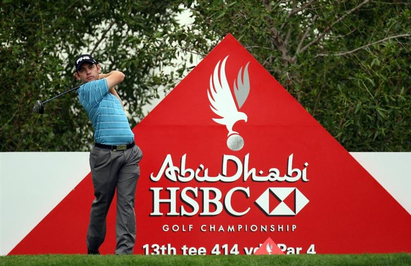 ABU DHABI, UNITED ARAB EMIRATES - JANUARY 20:  Louis Oosthuizen of South Africa during the first round of the Abu Dhabi HSBC Golf Championship at the Abu Dhabi Golf Club on January 20, 2011 in Abu Dhabi, United Arab Emirates.  (Photo by Ross Kinnaird/Getty Images)