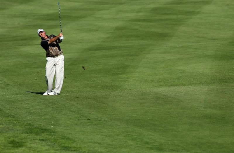 LA JOLLA, CA - JANUARY 28:  Boo Weekley hits off the 14th fairway during the second round of the Farmers Insurance Open at Torrey Pines on January 28, 2011 in La Jolla, California. (Photo by Donald Miralle/Getty Images)