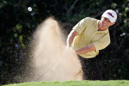 HONOLULU - JANUARY 13:  Tim Wilkinson of New Zealand hits out of a bunker on the sixth hole during the final round of the Sony Open at the Waialae Country Club on January 13, 2008 in Honolulu, Oahu, Hawaii.  (Photo by Jeff Gross/Getty Images)