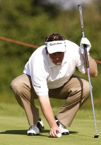 Wales' Garry Houston in action during the third round of the Celtic Manor Open, Newport, South Wales, June 2, 2007.