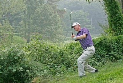 John Senden hits from the rough on #9 during the second round of The Barclays held at Westchester Country Club on August 24, 2007 in Harrison, New York. PGA TOUR - 2007 The Barclays - Second RoundPhoto by Chris Condon/PGA TOUR/WireImage.com