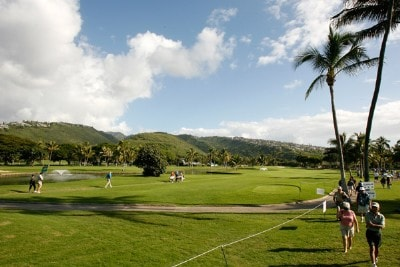 A scenic view of the course at the second hole during the third round of the Sony Open in Hawaii held at Waialae Country Club January 12, 2008 in Honolulu, Hawaii. PGA TOUR - 2008 Sony Open in Hawaii - Third RoundPhoto by Stan Badz/PGA TOUR/WireImage.com
