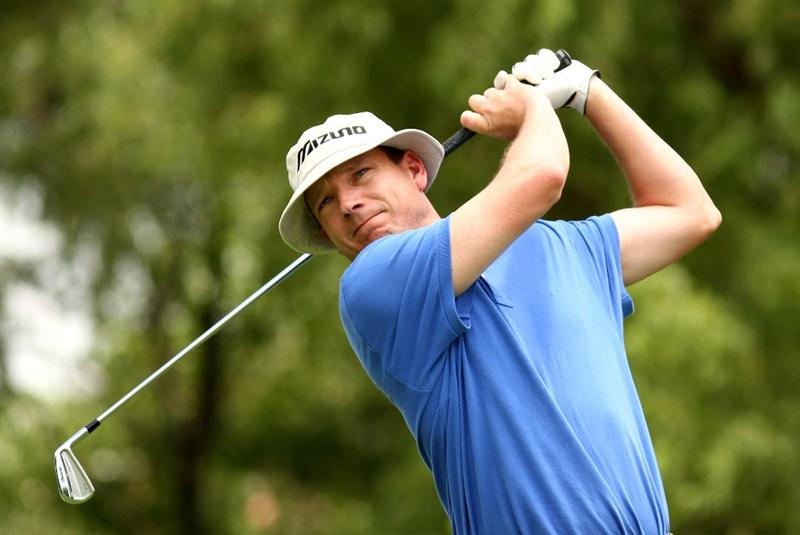 JOHANNESBURG, SOUTH AFRICA - JANUARY 09:  Andrew McLardy of South Africa plays tee's off at the 17th during the second round of the Joburg Open at Royal Johannesburg and Kensington Golf Club on January 9, 2009 in Johannesburg, South Africa.  (Photo by Richard Heathcote/Getty Images)