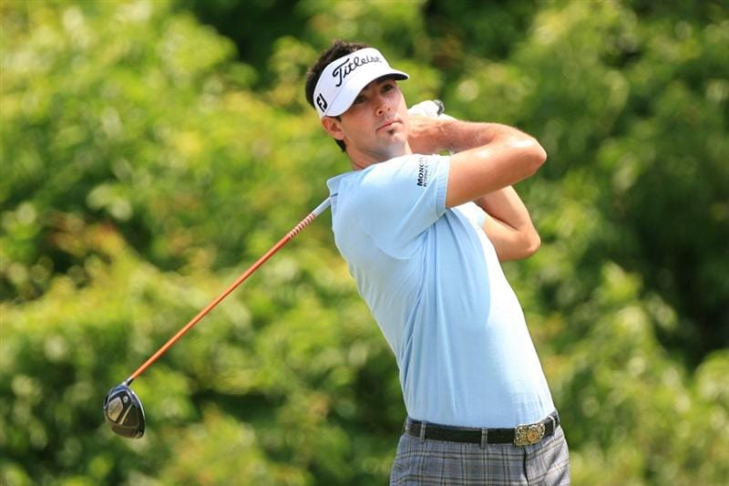 NEW ORLEANS, LA - APRIL 30: Cameron Tringale hits his tee shot on the second hole during the third round of the Zurich Classic at the TPC Louisiana on April 30, 2011 in New Orleans, Louisiana. (Photo by Hunter Martin/Getty Images)