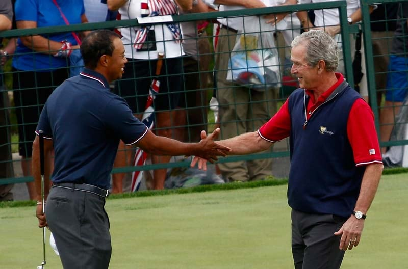 George W. Bush and Tiger Woods