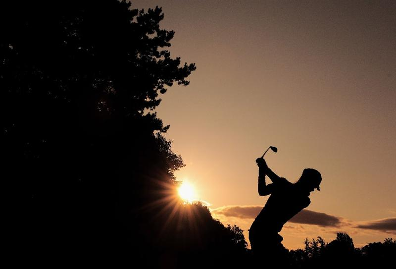 EVIAN-LES-BAINS, FRANCE - JULY 25:  Maria Verchenova of Russia plays a shot during the third round of the Evian Masters at the Evian Masters Golf Club on July 25, 2009 in Evian-les-Bains, France.  (Photo by Stuart Franklin/Getty Images)