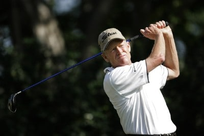 Mike Reid during the first round at the Allianz Championship held at The Old Course at Broken Sound Club in Boca Raton, Florida, on February 9, 2007. Photo by Mary Schilpp/PGA TOUR/WireImage.com