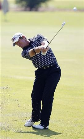 ATHENS, GA - MAY 06:  Jim Carter hits a shot from the fairway during the second round of the Stadion Classic at UGA held at the University of Georgia Golf Course on May 6, 2011 in Athens, Georgia.  (Photo by Michael Cohen/Getty Images)