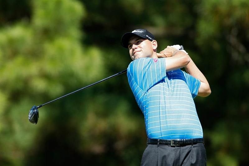 MADISON, MS - OCTOBER 02:  Bill Haas hits his drive on the fourth tee box during the third round of the Viking Classic held at Annandale Golf Club on October 2, 2010 in Madison, Mississippi.  (Photo by Michael Cohen/Getty Images)