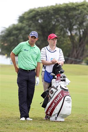 DORAL, FL - MARCH 11: Padraig Harrington of Ireland wait to play on the first hole during round one of the 2010 WGC-CA Championship at the TPC Blue Monster at Doral on March 11, 2010 in Doral, Florida.  (Photo by Scott Halleran/Getty Images)