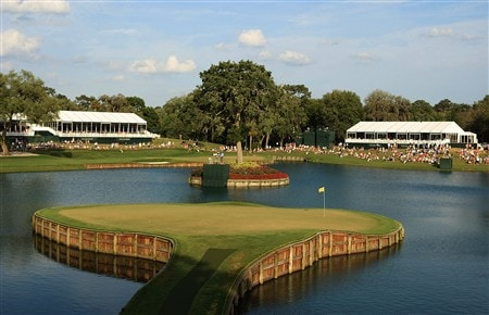 PONTE VEDRA BEACH, FL - MAY 10:  A general view of the 17th hole during the third round of THE PLAYERS Championship on THE PLAYERS Stadium Course at TPC Sawgrass on May 10, 2008 in Ponte Vedra Beach, Florida.  (Photo by Scott Halleran/Getty Images)